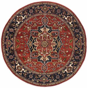 Buy Serapi Heritage Hand-Knotted Dark Burgundy Area Rug!