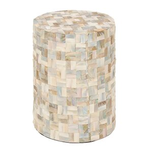 Captivating Wood Shell Garden Stool