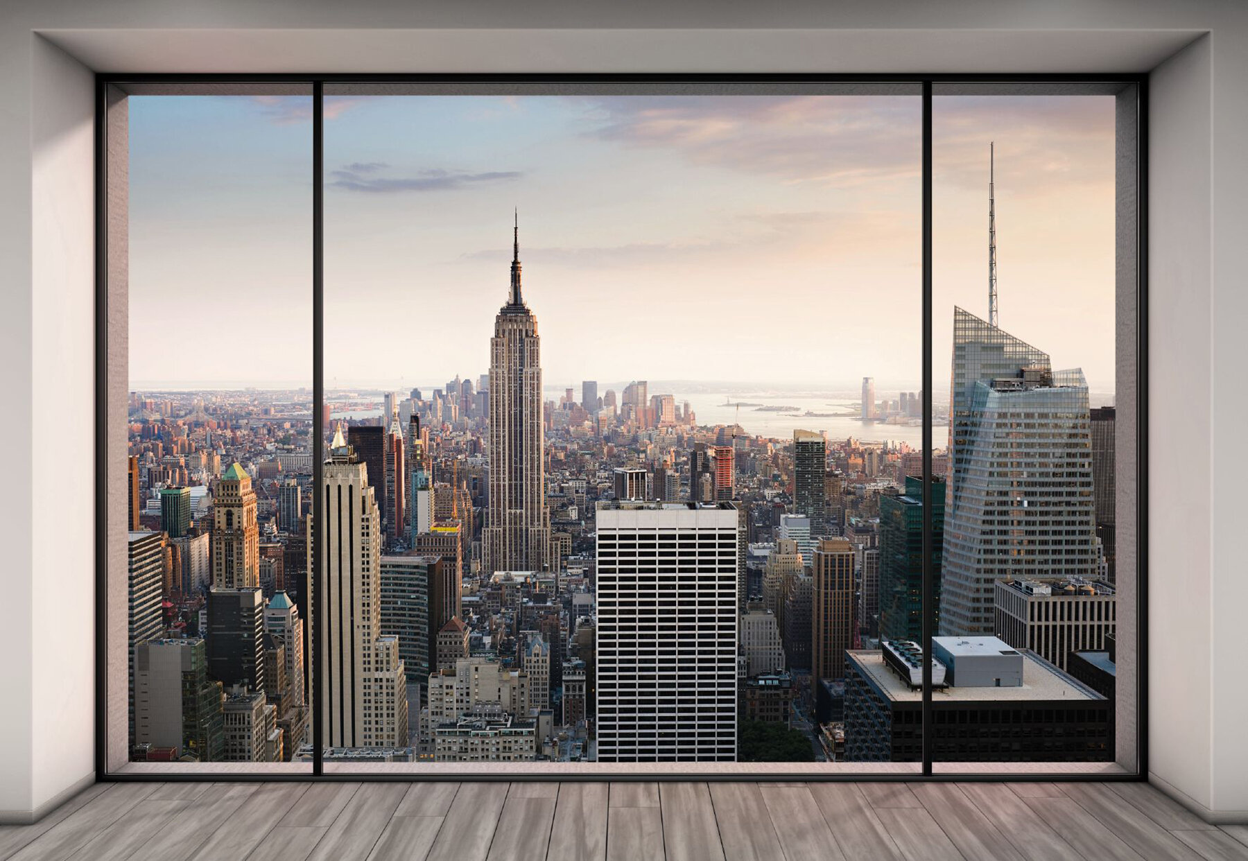komar penthouse trompe l oeil new york city skyline cityscape 4m x
