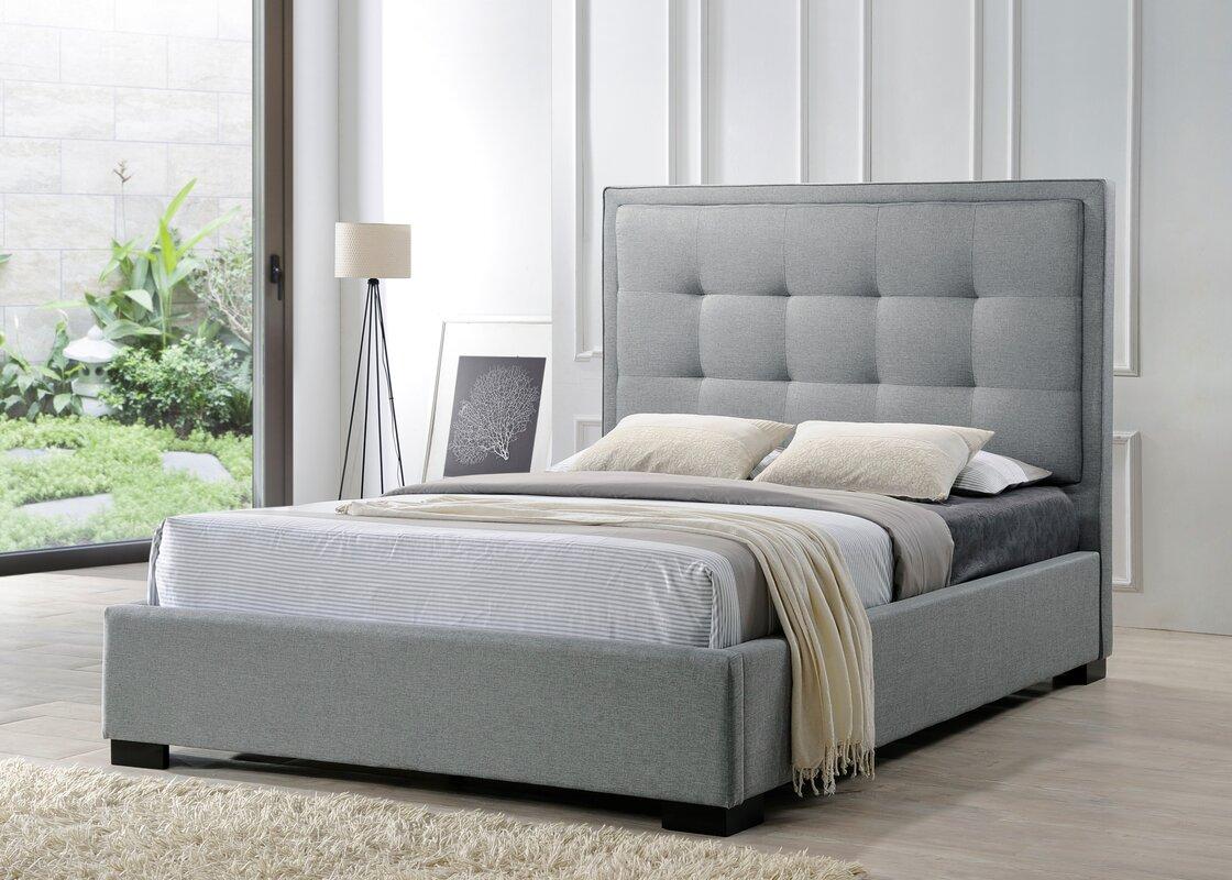 Wayfair Upholstered Panel Bed: LuXeo Montecito Upholstered Panel Bed & Reviews