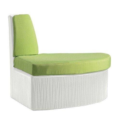 Tropitone Mobilis Corner Patio Chair With Cushions Wayfair