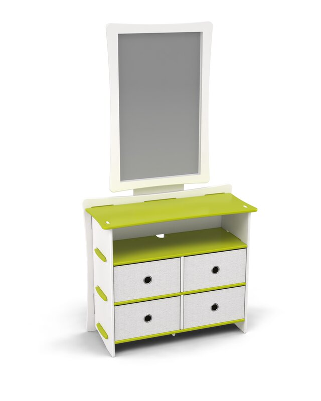 Legare Kids 4 Drawer Double Dresser with Mirror