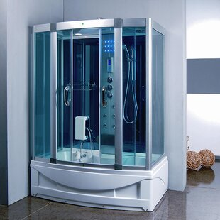 59 X 84 5 Rectangle Sliding Steam Shower With Base Included