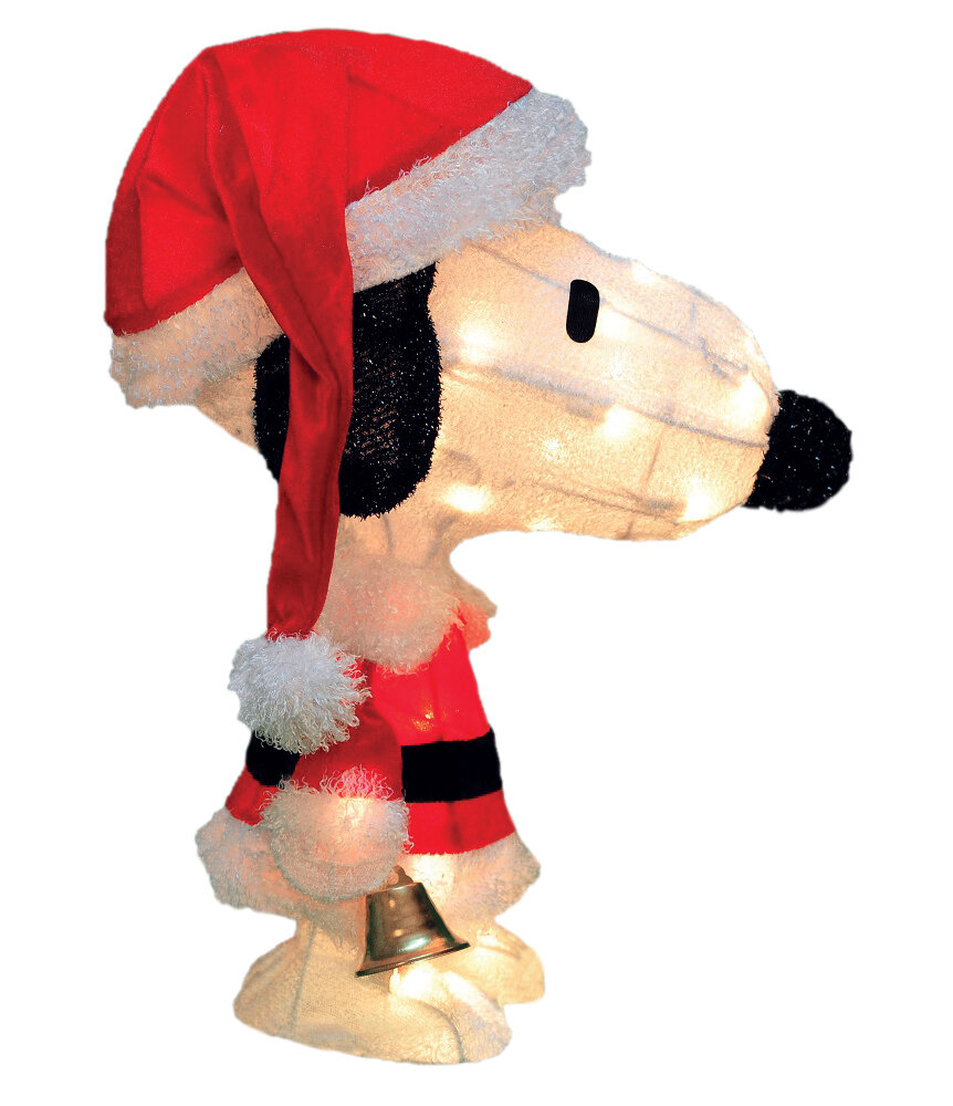 product works peanuts charlie brown in santa suit yard art christmas decoration reviews wayfair