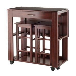Crownover 3 Piece Bar Table Set by Red Ba..