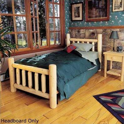Rustic+Log+Bed+Slat+Headboard