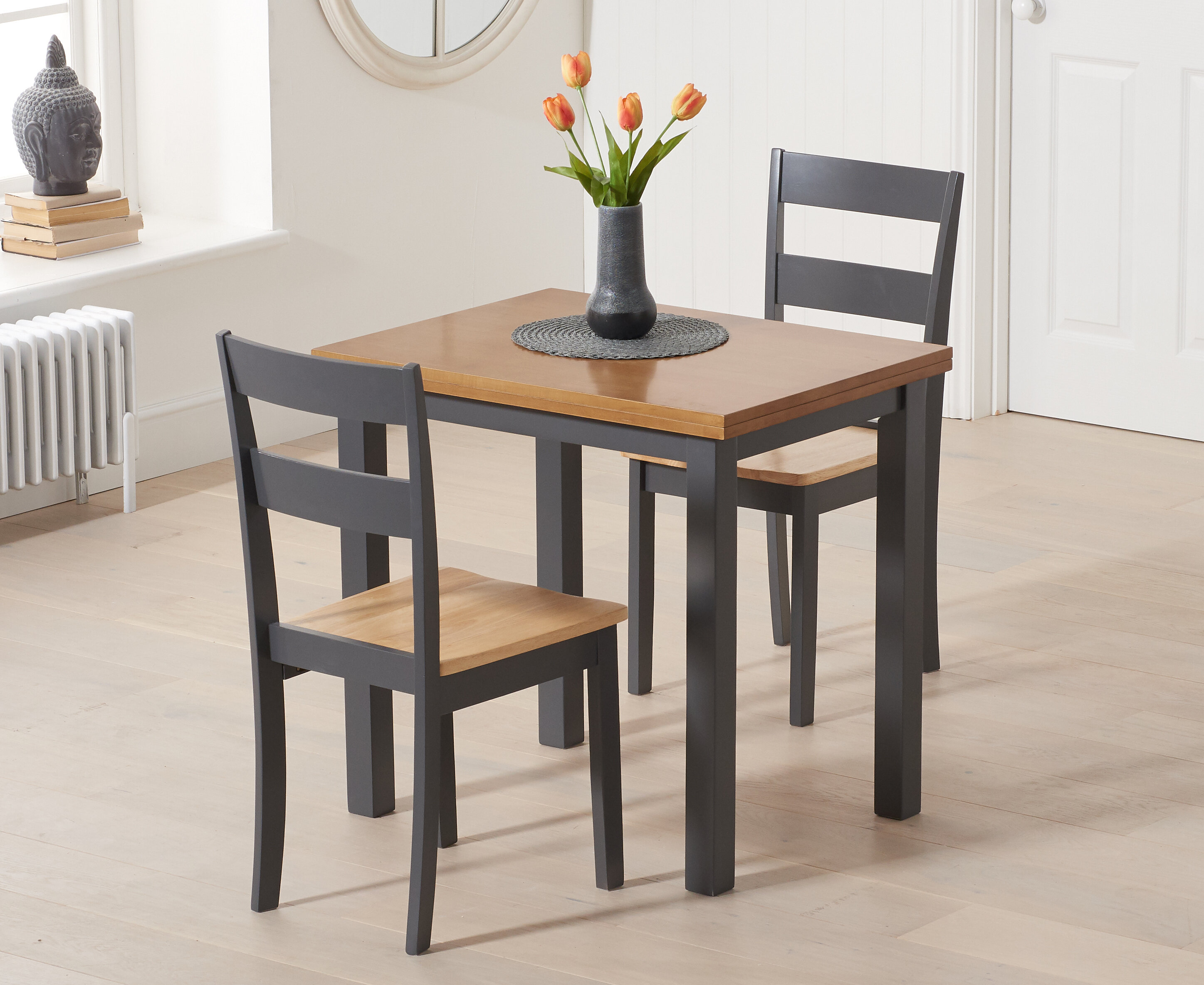 Beachcrest Home Bardwell Folding Dining Set With 2 Chairs Wayfair Co Uk