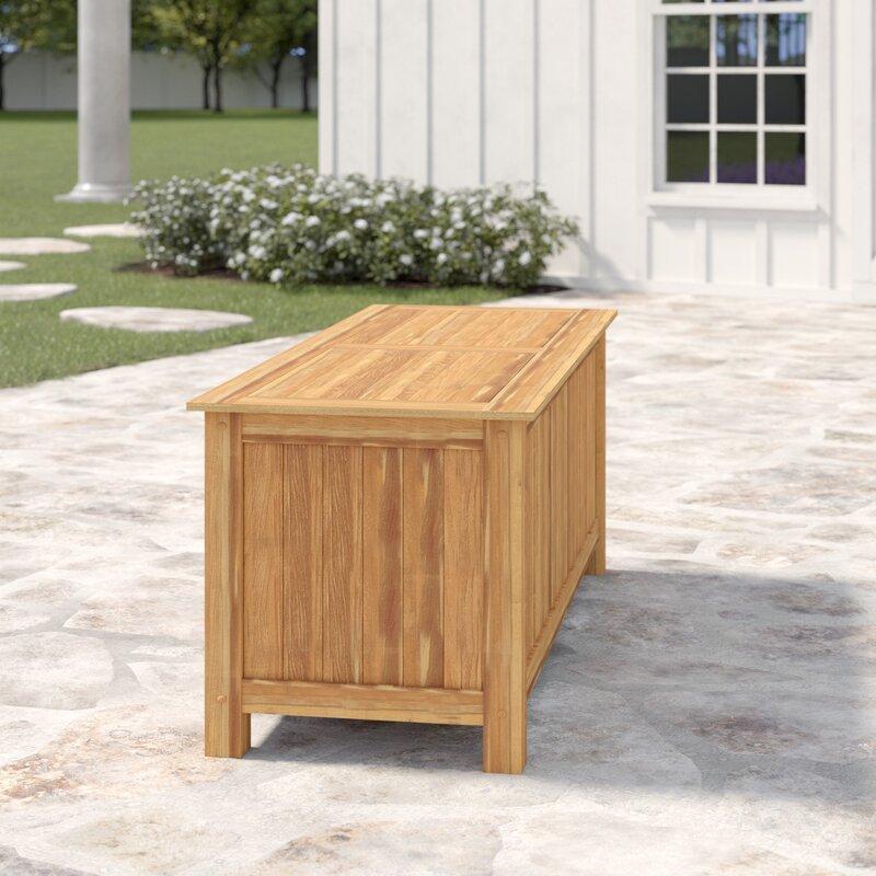 Incroyable Summerton 60 Gallon Teak Deck Box