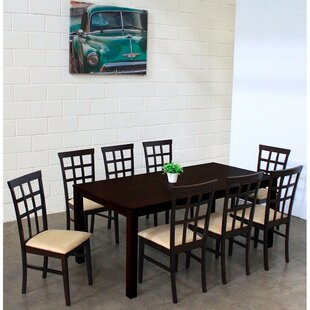 Justin 9 Piece Solid Wood Dining Set