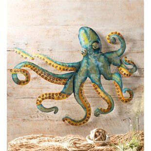 Handcrafted Metal Octopus Wall Décor