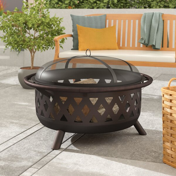 Helpful New 23 Inch Outdoor Rustic Cast Iron Fire Pit High-heat Enabled High Quality Barbecues, Grills & Smokers