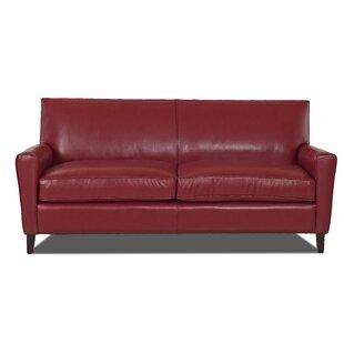 save to idea board - Red Leather Sofa