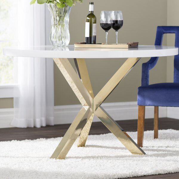 Oak Trendy White Desk Concepts Scratch Resistant Dining Table | Wayfair