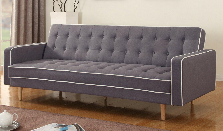 Great Clarissa 2 Tone Mid Century Sleeper Sofa