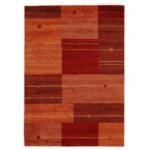 Worrell Handwoven Wool Red/Orange Rug by Charlton Home