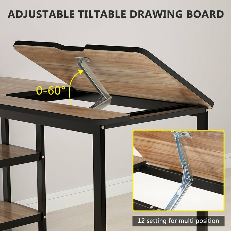 Excellent Scottsville Drafting Table Home Interior And Landscaping Mentranervesignezvosmurscom