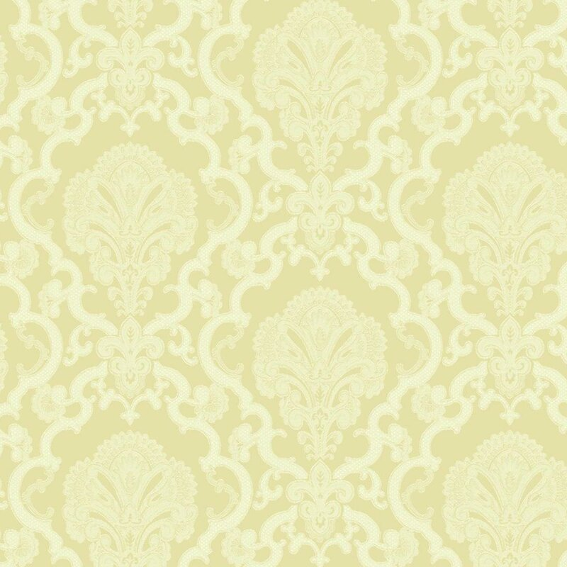 Williamsburg 27 x 27 Halifax Lace Damask 3D Embossed Wallpaper