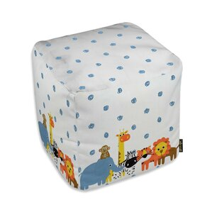 Zoomie Kids Jazlyn Animals in the Rain Ottoman