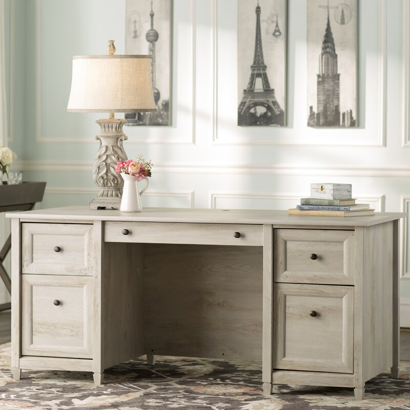 Lark Manor Datur Executive Desk & Reviews   Wayfair