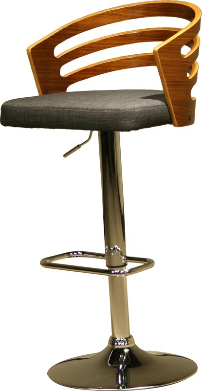 Modern Wood Adjustable Height Swivel Bar Stool Amp Reviews