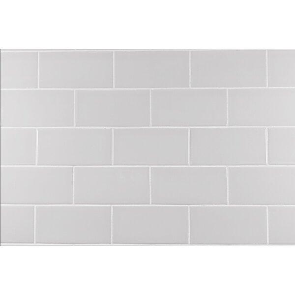 "Subway Tile mulia tile classic 3"" x 6"" ceramic subway tile in warm gray"
