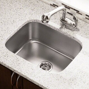 23 5 L X 18 25 W Single Bowl Undermount Stainless Steel Kitchen Sink