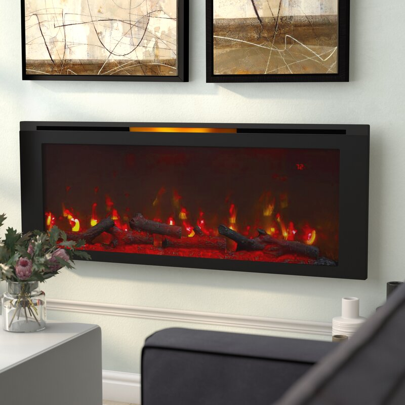 Wrought Studio Dahill Wall Mounted Electric Fireplace & Reviews ...