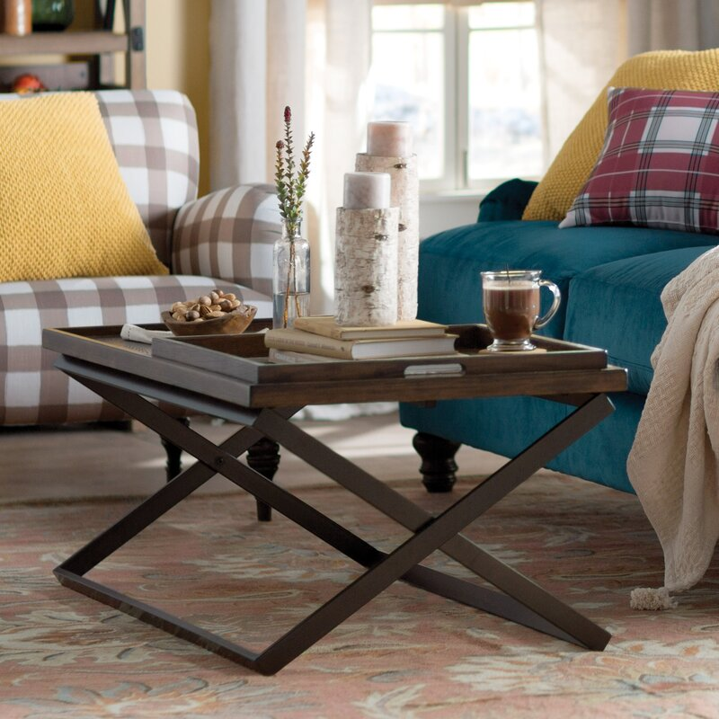 Great Evansville Coffee Table With Tray Top