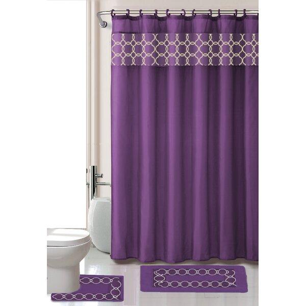 Purple Shower Curtain Set