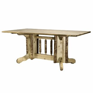 Tustin Double Pedestal Solid Wood Dining Table