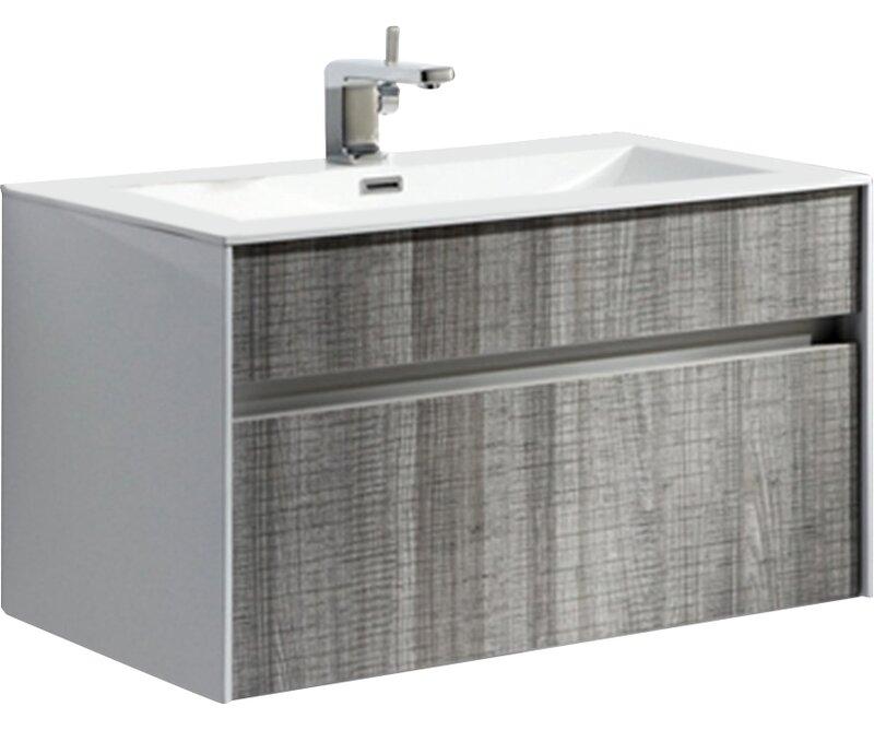 Wade Logan Brockman Single Bathroom Vanity Set Reviews Wayfair - Bathroom vanities san jose ca