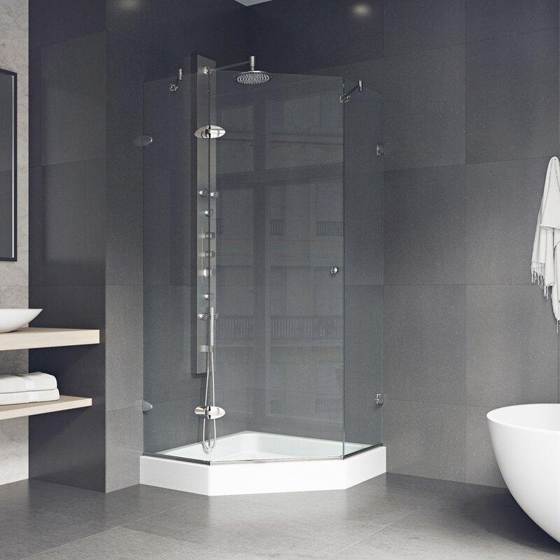Vigo Verona 38 X 38 In Frameless Neo Angle Shower Enclosure With