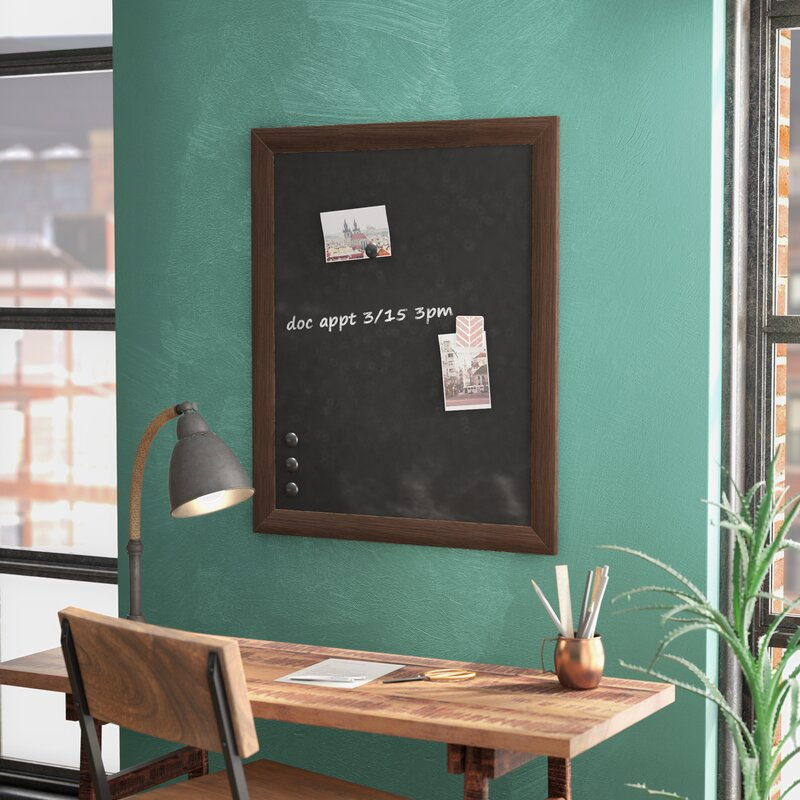 union rustic framed magnetic wall mounted chalkboard reviews wayfair