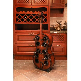 Gumbs Wooden Violin 10 Bottle Floor Wine Rack