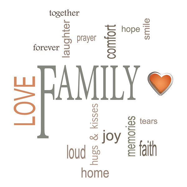 Family Quotes Wall Decal Reviews AllModern Beauteous Family Quotes