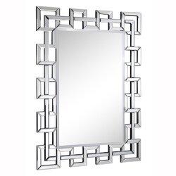 Silver Wall Mirrors everly quinn arachne silver rectangle wall mirror & reviews | wayfair