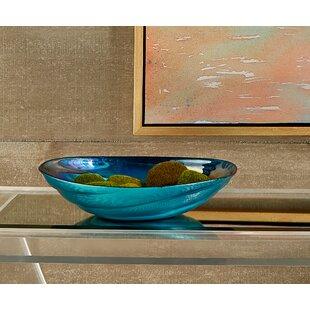 Crawfordsville Swirl Gl Decorative Bowl