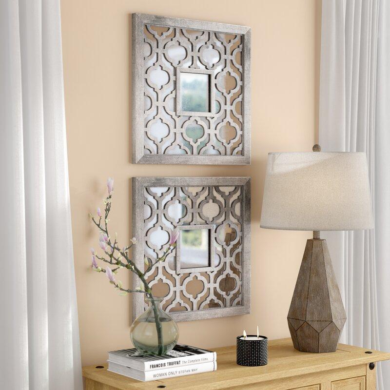 Uptal Square Silver Leaf Wall Mirror & Reviews | Birch Lane