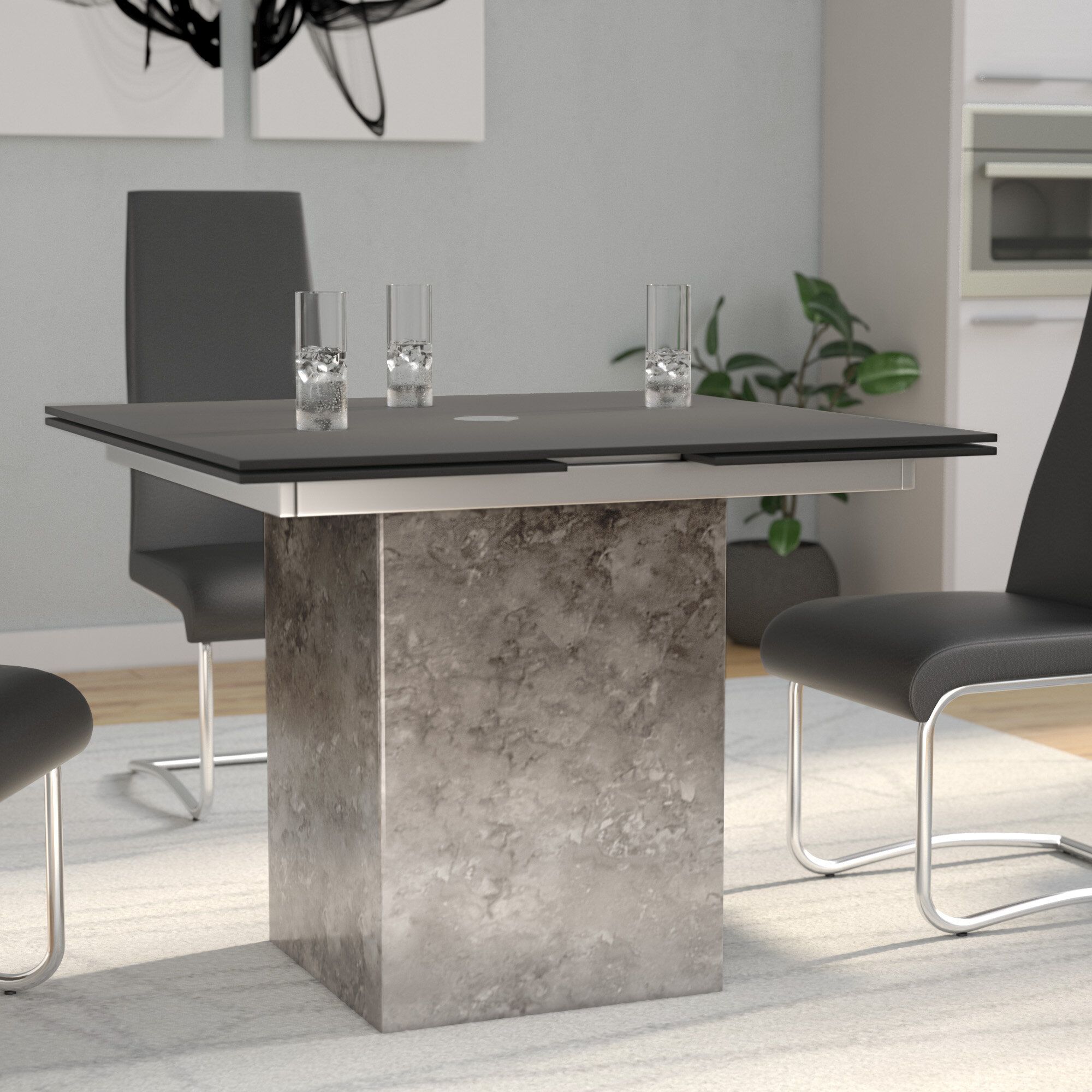 number corsica furniture hooker table products item tables with set dining pedestal rectangle