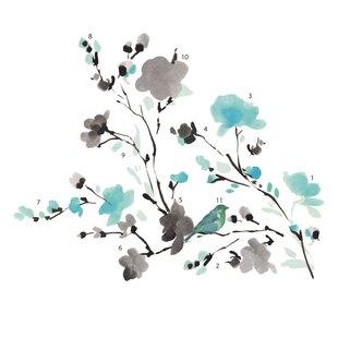 bbc775e6e1da Deco Blossom Watercolor Bird Branch Wall Decal