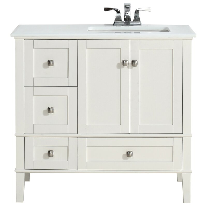 Chelsea 37 Single Right Offset Bath Vanity Set