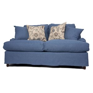 Seacoast T-Cushion Loveseat Slipcover Set by Sunset Trading