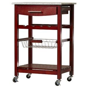 Flint Kitchen Cart with Granite Top