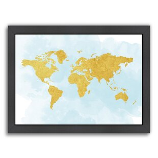 Canvas prints wall decorative panels 5 pieces 0705 orange brown world map 3 framed graphic art gumiabroncs Choice Image