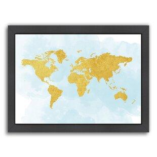 world map 3 framed graphic art