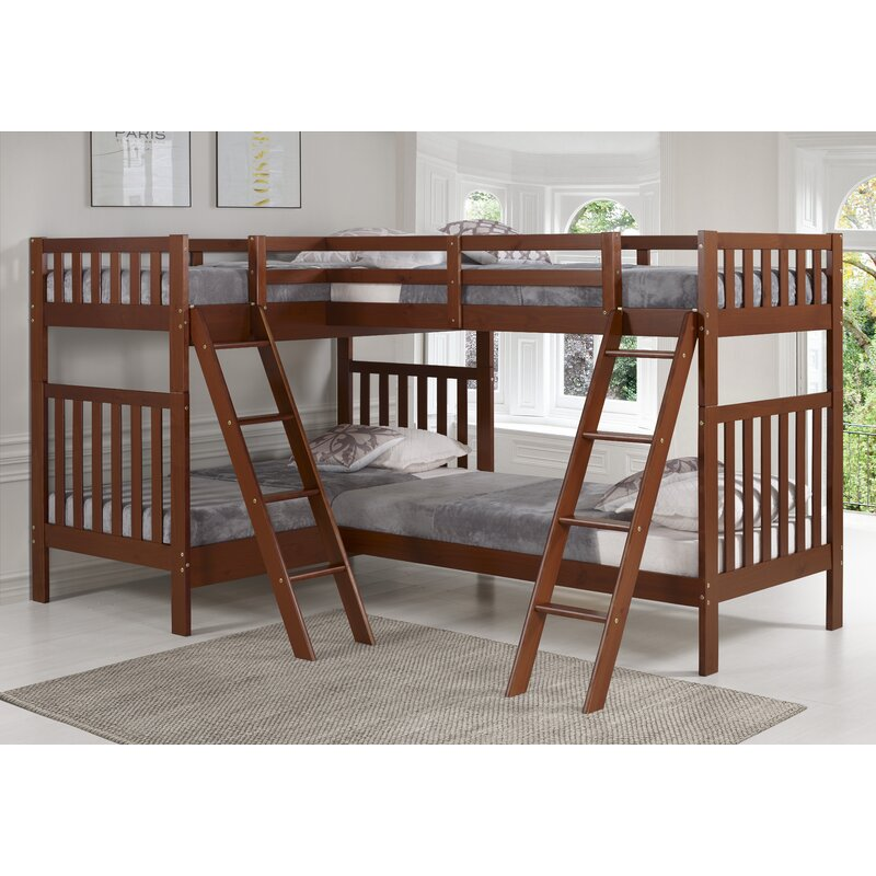 Harriet Bee Crescent Twin Over Twin L Shaped Bunk Bed Reviews