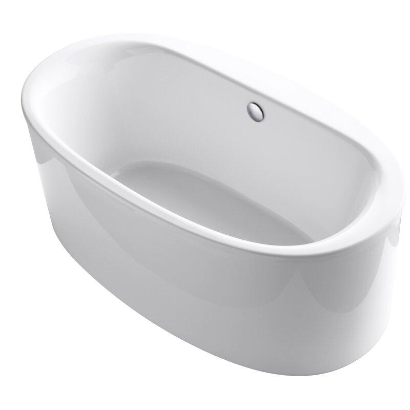 Kohler Sunstruck 174 66 Quot X 36 Quot Oval Freestanding Air Bathtub