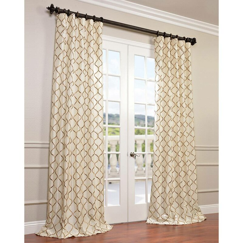 dp w ivory pair charcoal amazon atlantis home curtain com panels curtains of grommets window kitchen