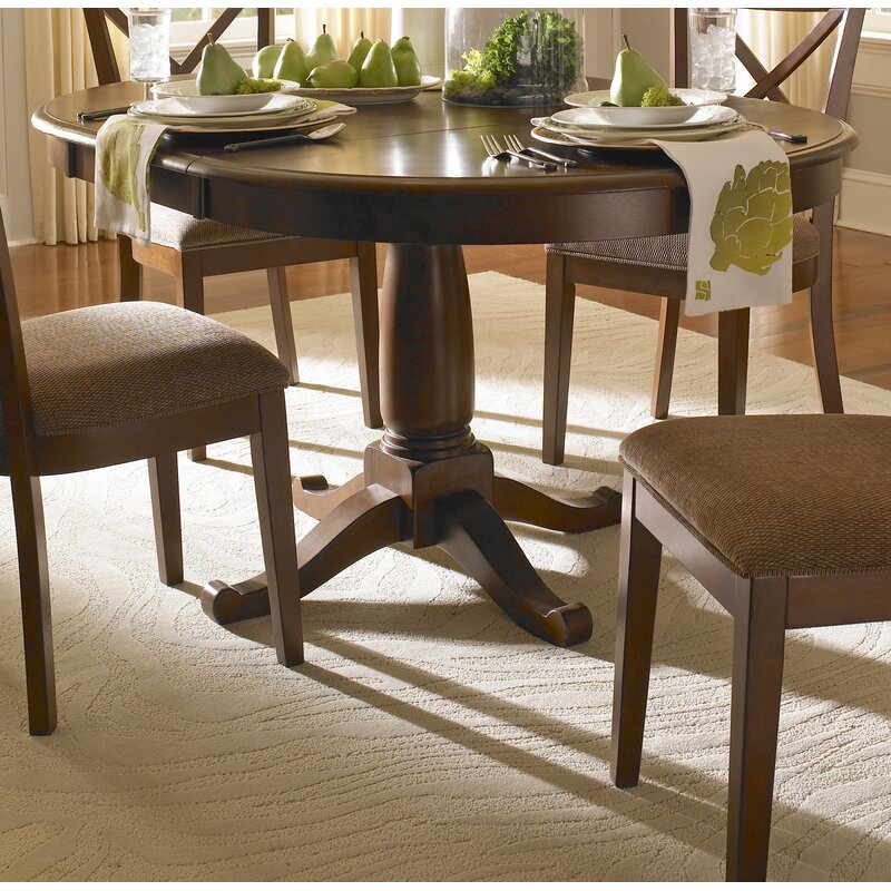 Solid Wood Coffee Table Wayfair: Darby Home Co Kiantone Extendable Solid Wood Dining Table