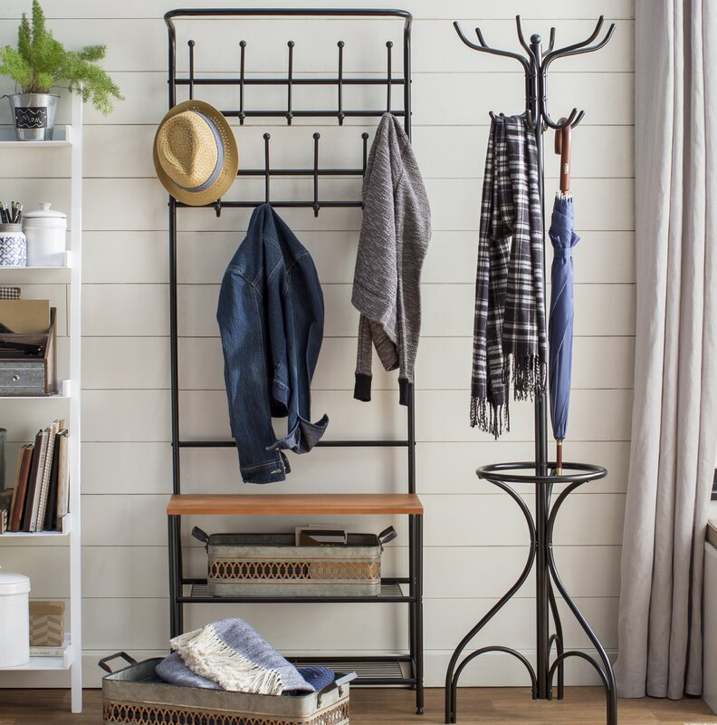 Honey Can Do Entryway Storage Hall Tree & Reviews